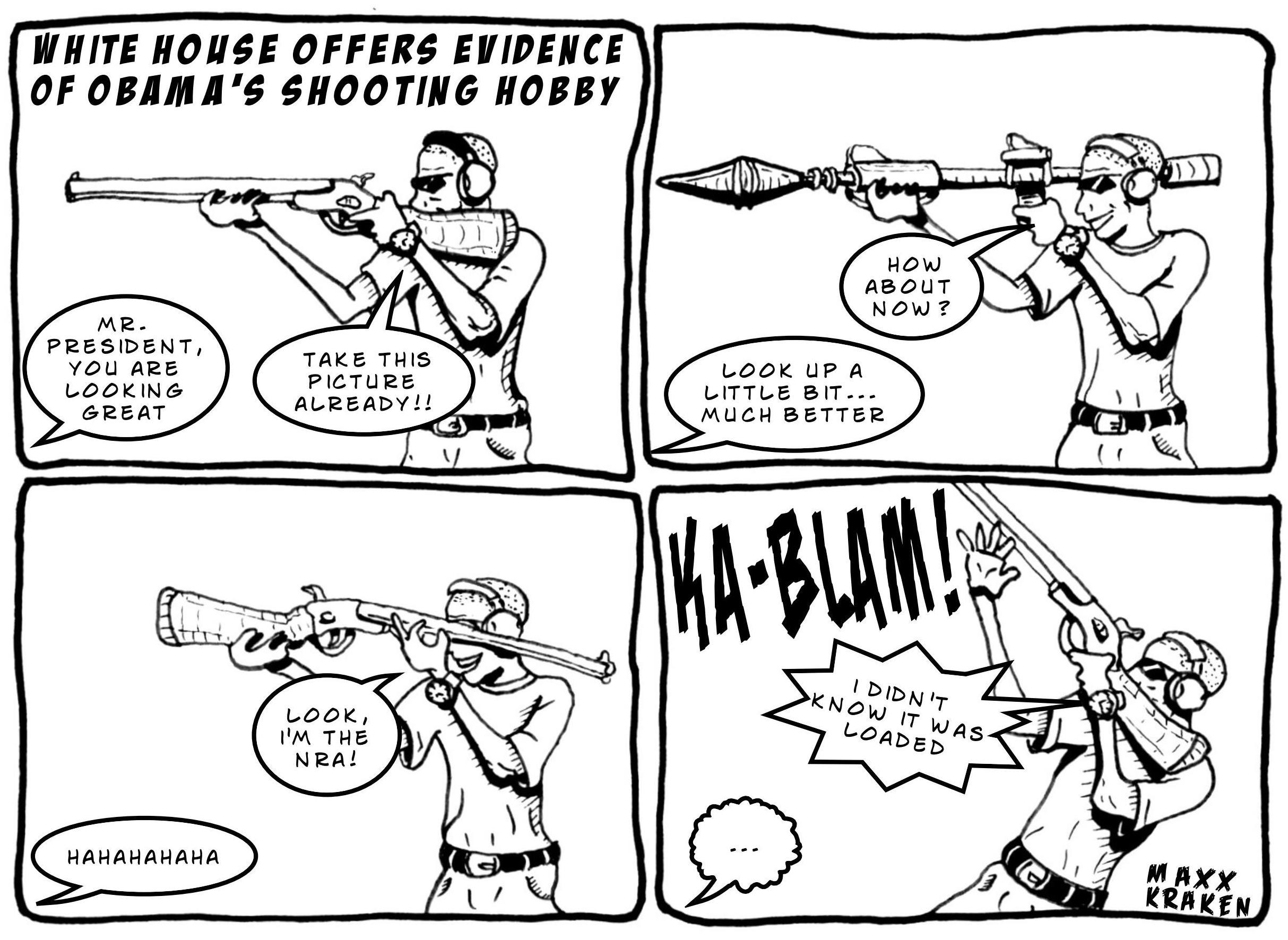 Obama's Shooting Hobby